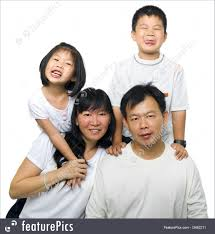 asian family asian family portrait on white background