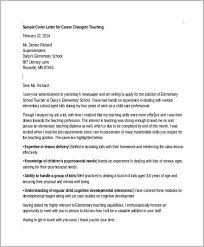 Cover Letter Example For Career Change To Teaching Cover Letter