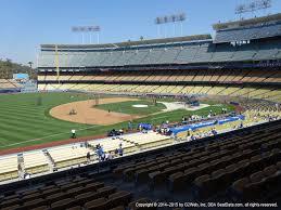 Dodger Stadium View From Loge Infield 147 Vivid Seats