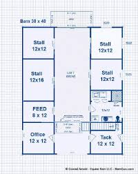 Barn Plan  Outbuilding Plan Or Barn Plan With Living Quarters Barn Plans With Living Quarters Floor Plans