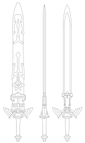 Master Sword Blueprint Twilight Princess By Fridator Sword Art