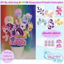 Small Picture My Little Birthday Printable Little Pony Personalized