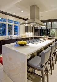 waterfall countertop trend in kitchens
