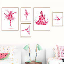 Dancing Fairy Girl Poster Print For Dressing Room Modern