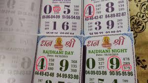 _ 05 10 2019 Kalyan Kalyan Night Rajdhani Day Rajdhani Night Our Time Bazar Dhanshree Chart