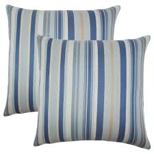 striped throw pillows. Unique Throw Set Of 2 Urbaine Striped Throw Pillows In Blue Brown Intended P