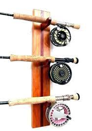 fishing pole rack holder wall mount rod holders custom diy