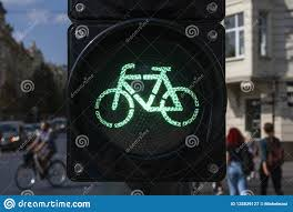 Green Light Cycle Bicycle Traffic Signal Green Light Stock Image Image Of
