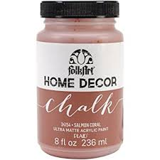 Small Picture Folk Art Home Decor Chalk Paint 8oz Salmon Coral Folk Art Home