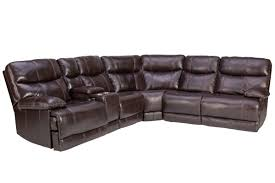 jaguar leather reclining sectional from gardner white furniture