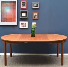 vintage danish midcentury extending teak round table delivery modern retro