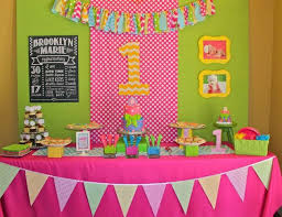 1st birthday party decoration for baby girl