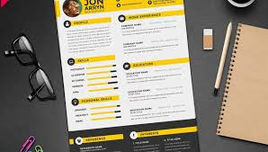 Graphic Resume Templates Inspiration Graphic Design Resume Template Free Foroad Creative Designer Cv Psd