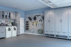 Laundry room office design blue wall Vintage Garage With Laundry Area Garages63 Closet Factory Laundry Room Cabinets Makeover Design Ideas Closet Factory