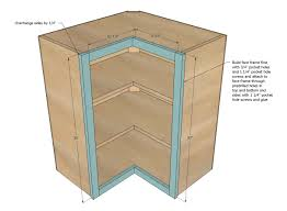 How To Make A Kitchen Cabinet Ana White Wall Corner Pie Cut Kitchen Cabinet Diy Projects
