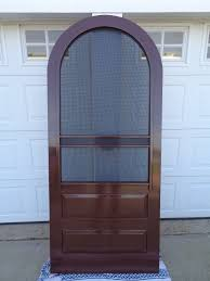 how to construct a round (arch) top screen door - YouTube