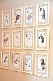 Vintage alphabet flash cards as wall art.