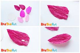 How To Make A Lotus Flower Out Of Paper Diy Lotus Light For Diwali Red Ted Art