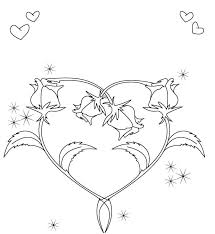 Small Picture Rose And Heart Valentines Coloring Pages Valentine Coloring