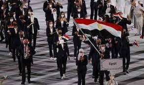 أبطال المصرية للاتصالات يتقدمون طابور عرض البعثة البارالمبية بطوكيو ويحملون  علم مصر في حفل الافتتاح - بوابة الأهرام