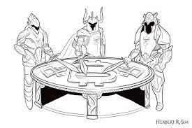 ordre des arts et des technologies knights round table sketch
