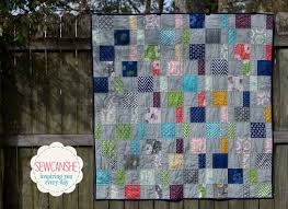 My Charm Pack Cherry Quilt (from a free pattern) — SewCanShe ... & The whole quilt is made up of 4 charm packs - two solid and two print. I  used Vanessa Christensen's Simply Style and Bella Solids - both from Moda. Adamdwight.com