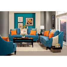 Peacock Colors Living Room Furniture Of America Vincenzo Sm2203 Sofa In Peacock Blue Sm2203 Sf