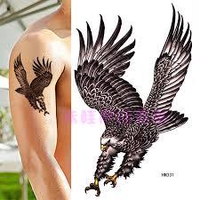 Velký Obrázek Orel Tetování Samolepky Vodotěsné Modely Mužů A žen Trvalé Simulace Dominantní Hrudník Květ Paže Kryt Jizva Tetování Samolepky