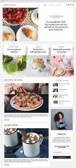Culinary Blog Website Template Wix