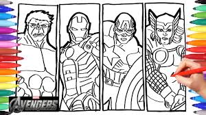 We are really happy to intoroduce this beatiful coloring book for your kids!about this book: Avengers Drawing Coloring Iron Man Thor Hulk Captain America Coloring Pages For Kids Youtube