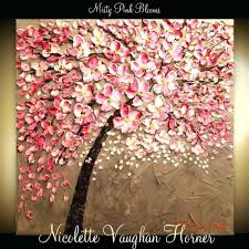cherry blossom paintings hand painted canvas