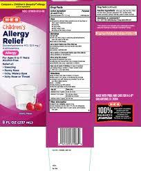 Children S Benadryl Allergy Dosage Chart Allergy Childrens Liquid H E B