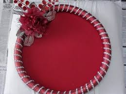 Decorative Platters And Trays How to make Decorative Round Tray YouTube 5