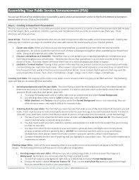 Psa Example Logo Studies Psa Script Template Tv Example Guidelines