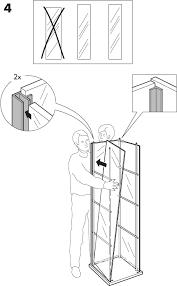 detolf glass door cabinet 17x64