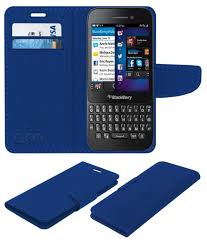 Blackberry Q5 Flip Cover by ACM - Blue ...