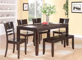 Kitchen Table With Bench Set Dining Room Table With Bench And Chairs Lavola House