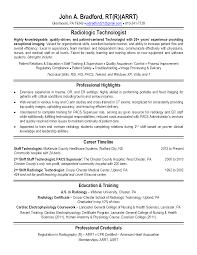 x ray tech resume