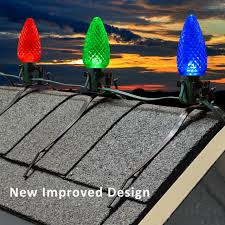 Clips For Attaching Christmas Lights Clip Roof Top Ridge Line Mounting Clip For C7 C9 Bulbs And Rope Light 5pc Bag