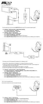 px22 ps4 setup diagram turtle beach px22 ps4 setup diagram