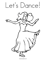 Small Picture Lets Dance Coloring Page Twisty Noodle