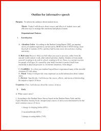 Speech Outline Informative Speech Outline Apa Example 10