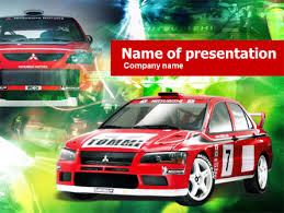 Rally Templates Rally Car Powerpoint Template Backgrounds 00611 Poweredtemplate Com