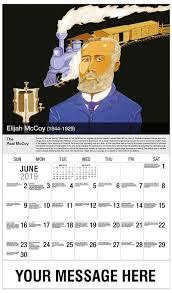 Black History Calendar 65 African American History Promotional