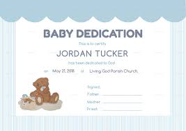 Baby Dedication Certificates Templates Baby Dedication Certificate Design Template In PSD Word Publisher 1