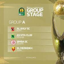 """African Soccer Updates on Twitter: """"قرعة دوري أبطال افريقيا المجموعة الاولى  : الاهلي - المريخ - سيمبا - فيتا كلوب المجموعة الثانية : مازيمبي -شباب  بلوزداد - الهلال - صنداونز المجموعة الثالثة :"""