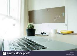 home office workspace. Closeup Notebook Flat Lay Home Office Workspace Top View P