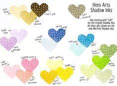 Hero Arts Shadow Ink Color Chart 8 Best Inks Images Ink Chalk Ink Studio Calico