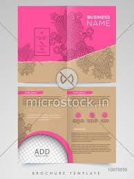 Two Page Brochure Template Beautiful Floral Design Decorated Two Page Brochure Template Or