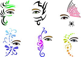 manly full face as wells as hair stencils masks crowns full face in hair stencils masks